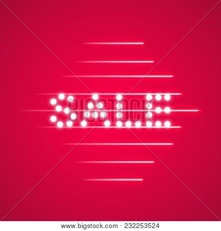 Supper Sale Speed Icon On The Pink Background, Vector