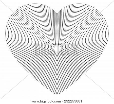Design Element Icon Logo Hearts Fine Lines Symbol01