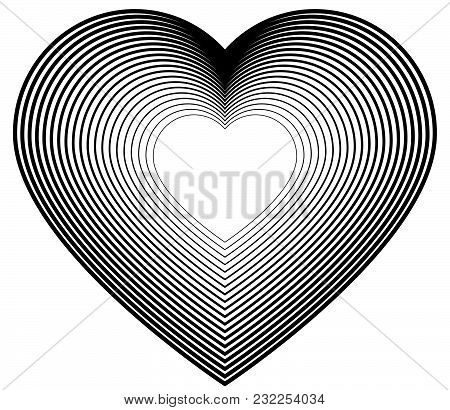 Design Element Icon Logo Hearts Fine Lines Symbol05