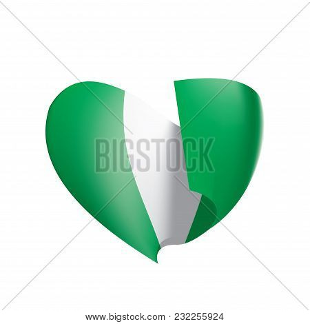 Nigeria Flag, Vector Illustration On A White Background