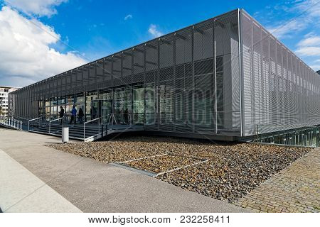 Berlin, Germany - April 19, 2017: Tourists Visit The Topography Of Terror, An Outdoor And Indoor His