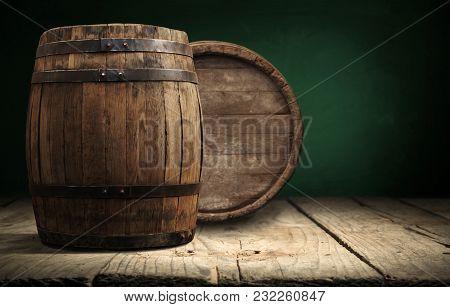 Barrels In The Wine Cellar, Porto, Portugal.