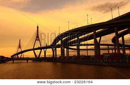 Bhummiphol Bridge in Thailand