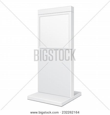 Outdoor City Light Box Advertising Stand Banner Shield Display, Advertising. Illustration Isolated O