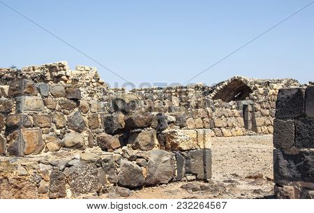 Near Afula, Israel, May 17, 2014 :  Ruins Of The 12th-century Fortress Of The Hospitallers - Belvoir
