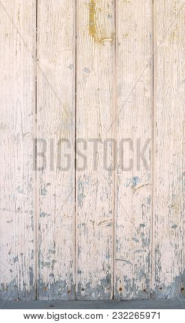 Texture Of Old Beige Boards With Flaking Gray Paint