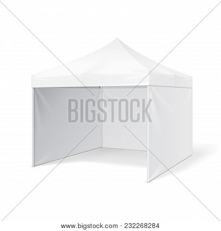 Promotional Advertising Outdoor Event Trade Show Pop-up Tent Mobile Advertising Marquee. Mock Up, Te