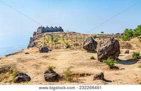 Navlakha Kothar, Ancient Grain Storage At Pavagadh Hill. Gujarat State Of India