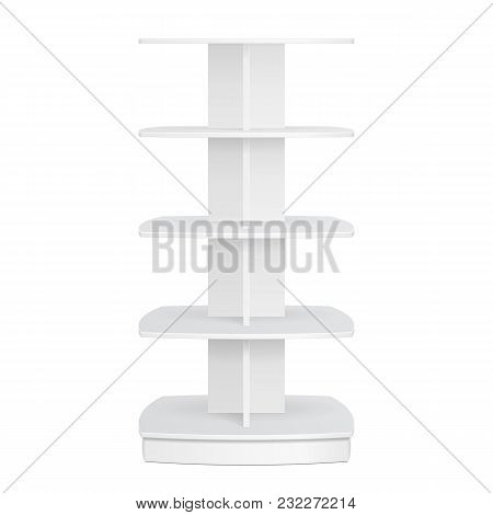 Square Rounded Pos Poi Cardboard Floor Display Rack For Supermarket Blank Empty Displays. Products M