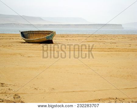 Boat In The Middle Of The Desert