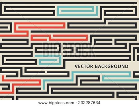 Maze Vintage Background Design Elements Advertising Flyer08