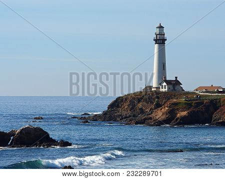Pigeon Point Lighthouse Near Half Moon Bay, California