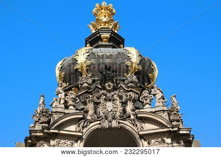 Dresden, Germany - April 27, 2012: This Is The Architectural Embodiment Of The Attribute Of Royal Po