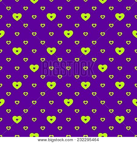 Hearts Vector Pattern. Abstract Geometric Texture, Colorful Sporty Style. Valentines Day Background.