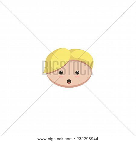 Character Head For Stickers And Animation Cartoon Style Vector Illustration