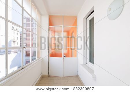 corridor in a renovated historic apartment in the city center