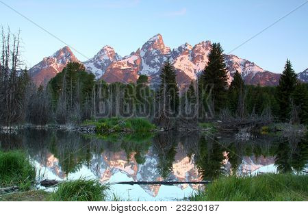 The Grand Tetons at Sunrise