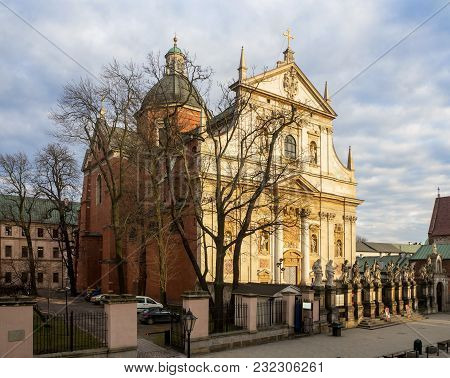 Saint Peter And Paul Church In Krakow. The First Baroque Building In Cracow, Built Between 1597-1619