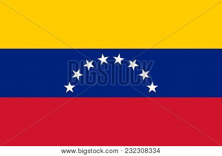 Venezuelan National Flag, Official Flag Of Venezuela Accurate Colors, True Color