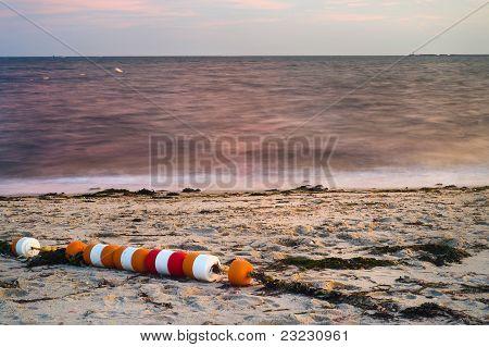 String Of Beach Buoys