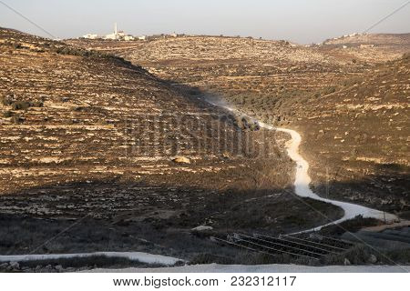 Sands Of Judean Desert Israel, From A Hill Near Beit El