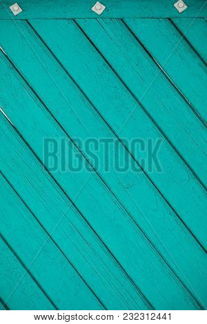 Diagonal Blue Wood Panels As A Background