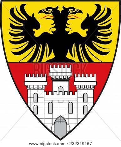 Coat Of Arms Of Duisburg Is A City In North Rhine-westphalia, Germany. Vector Illustration