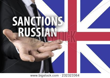 Tense Relations Between Russia And Great Britain. Concept Of Conflict And Stress