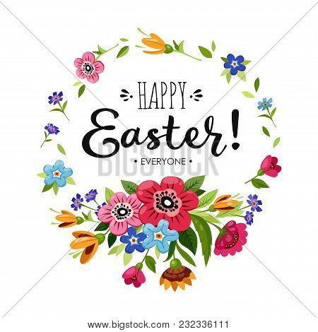 Template Happy Easter Card. Vector & Photo | Bigstock