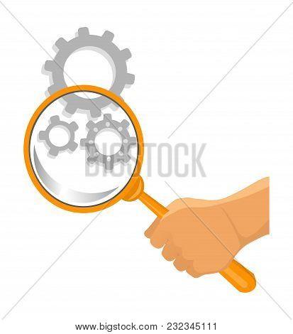 Service Tool Icon. Car Service Vector. Mechanism Diagnostics