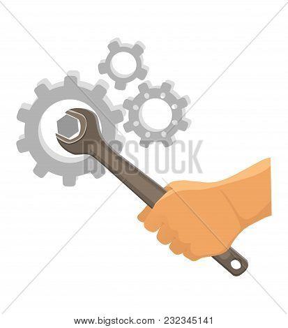 Service Tool Icon. Car Service Vector. Repair Of Mechanics