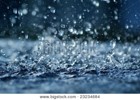 Rainfall In Blue