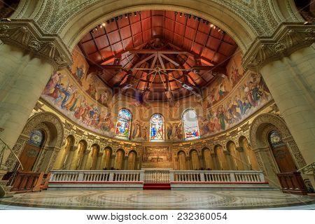 Stanford, California - March 19, 2018: Memorial Church Altar
