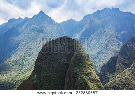 mountains covered with forest. Peru