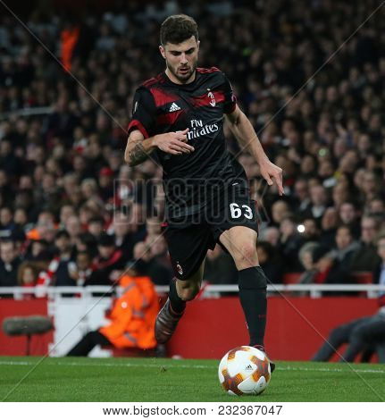 Patrick Cutrone of AC Milan during the Europa League match between Arsenal and AC Milan at The Emirates Stadium on March 15, 2018 in London, United Kingdom.