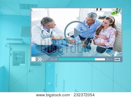 Digital composite of Medical Doctor Video Player App Interface