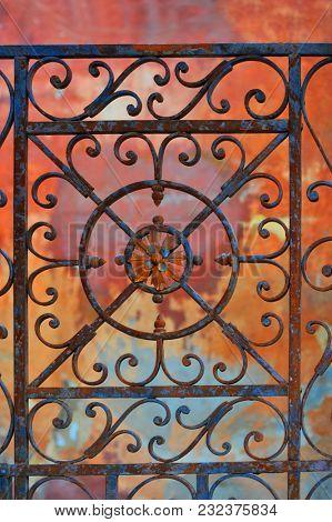 Old metal grille