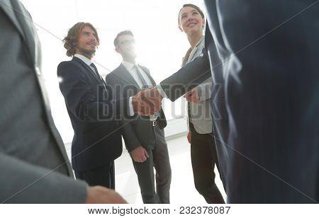 final handshake of business partners