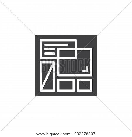 Website Template Vector Icon. Filled Flat Sign For Mobile Concept And Web Design. Web Page Layout Si