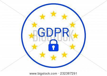 Gdpr - General Data Protection Regulation. Eu Symbol. Gdpr Compilance Icon. Vector Illustration