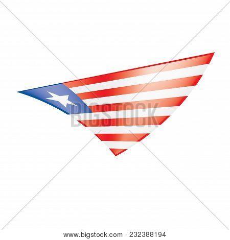 Liberia Flag, Vector Illustration On A White Background