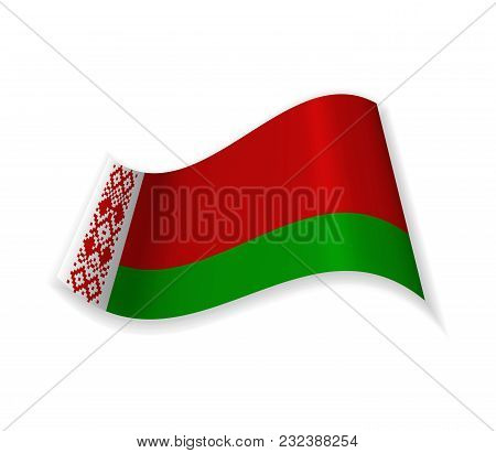 Flag Of The Republic Of Belarus. Country In Eastern Europe. Vector Illustration.