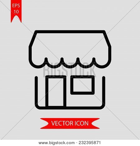 Shop Icon Vector In Modern Flat Style For Web, Graphic And Mobile Design. Shop Icon Vector Isolated