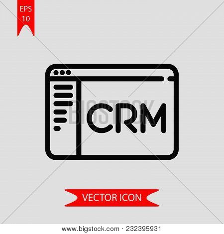 Customer Relationship Icon Vector In Modern Flat Style For Web, Graphic And Mobile Design. Customer
