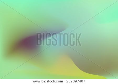 Abstract Color Blurred Overflow Background. Multicolor Vector Illustration. Green, Blue, Yellow Colo