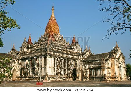 White Ananda Temple In Bagan, Myanmar (burma).