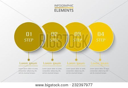 Vector Business Template For Presentation. Abstract Elements Of Graph, Diagram And Chart With 4 Step