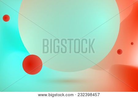 Abstract Color Fantasy Space Background. Vector Illustration. Multicolor Morphing Red And Blue Wallp