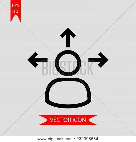 Decision Making Icon Vector In Modern Flat Style For Web, Graphic And Mobile Design. Decision Making