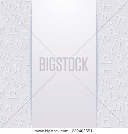 Abstract Background With Zodiac Signs. Vector Illustration.